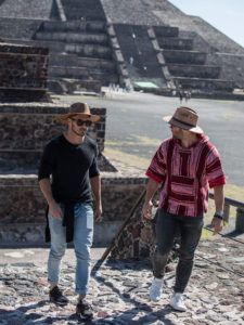 1UP Sports Marketing clients Danny Amendola and Julian Edelman in Mexico visiting Mayan temples