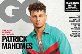 1UP Sports Marketing client Patrick Mahomes on the front cover of GQ magazine
